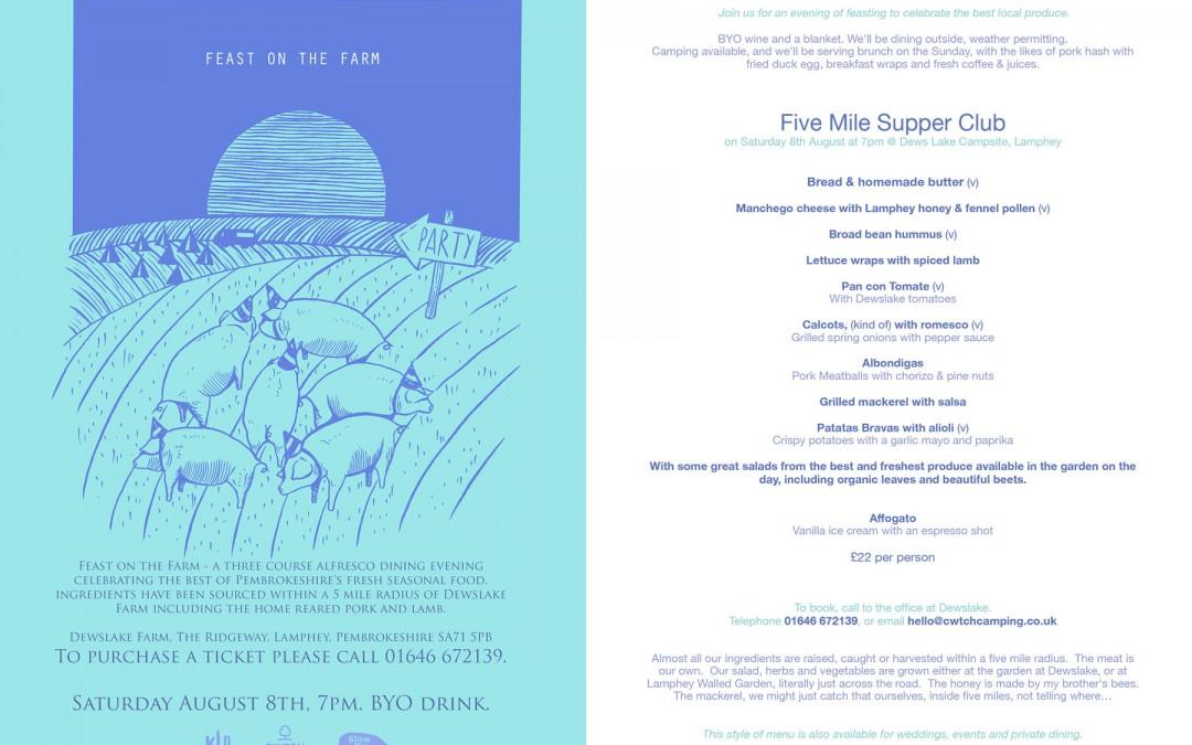 Feast on the Farm – 3 course alfresco dining evening